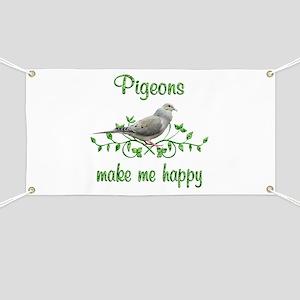 Pigeons Make Me Happy Banner