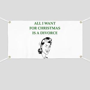 christmas divorce joke gifts Banner