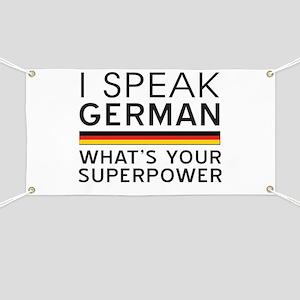 I speak German what's your superpower Banner