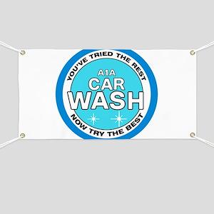 A1A Car Wash Banner