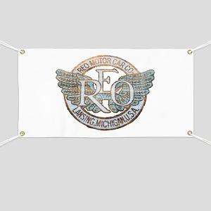 REO Motor Car Co. Retro Logo Banner