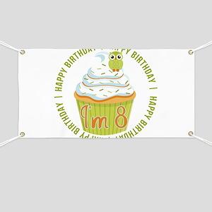 8th Birthday Cupcake Banner