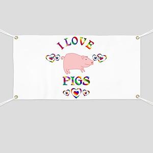 I Love Pigs Banner