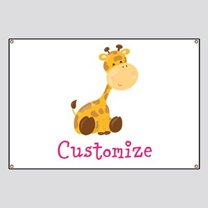 Custom Baby Giraffe Banner