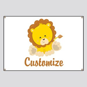 Custom Baby Lion Banner