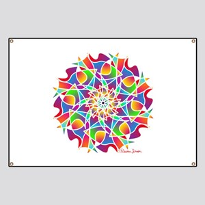Stained Glass Mandala Banner