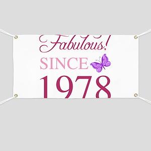 1978 Fabulous Birthday Banner