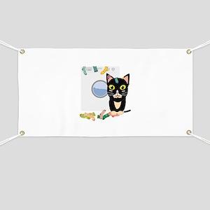 Cat with washing machine Banner