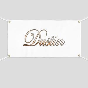 Gold Dustin Banner