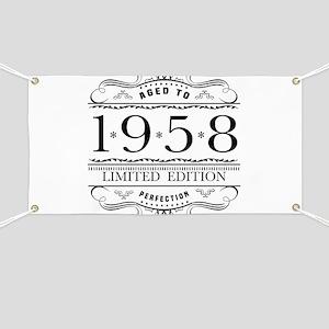 1958 Classic Birthday Banner