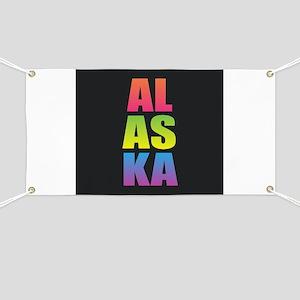Alaska Black Rainbow Banner