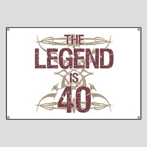 Men's Funny 40th Birthday Banner