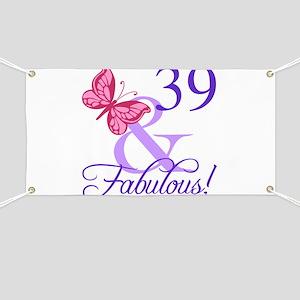 Fabulous 39th Birthday Banner