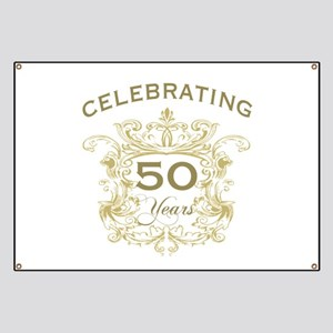 50th Wedding Anniversary Banner