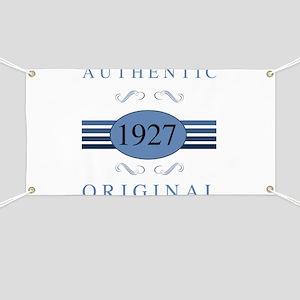 Authentic 1927 Birthday Banner