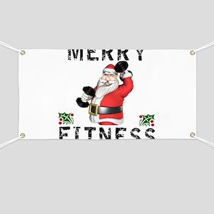Merry Fitness Santa Banner