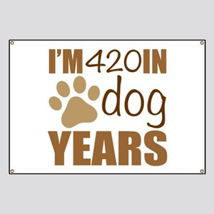 60th Birthday Dog Years Banner