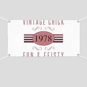 1978 Vintage Chick Banner