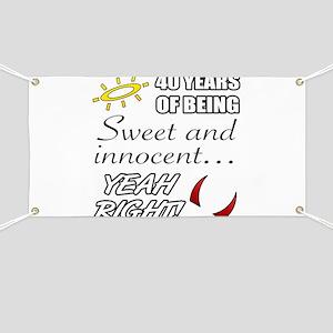 Cute 40th Birthday Humor Banner