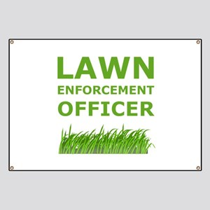 Lawn Officer Green Banner
