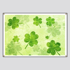 Green Shamrock Pattern Banner