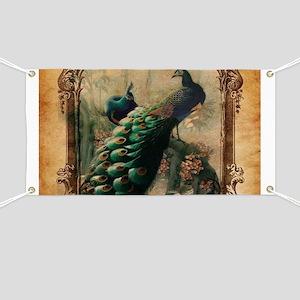romantic paris vintage peacock Banner