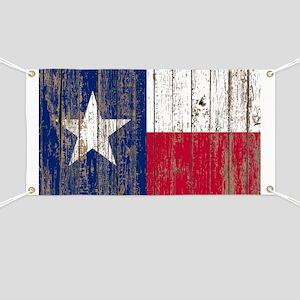 barn wood Texas Flag Banner