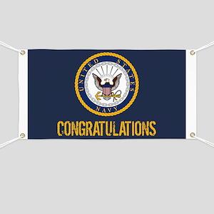 U.S. Navy: Congratulations (Blue & Gold) Banner