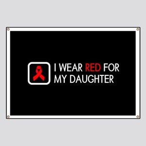 Red Ribbon: Red for my Daughter Banner