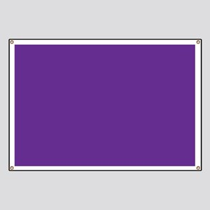 Blue Violet Solid Color Banner