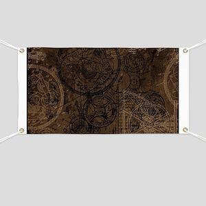 Clockwork Collage Brown Banner