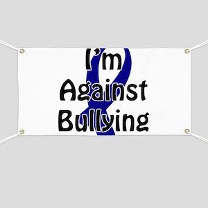 Anti-Bullying Blue Ribbon Banner