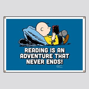 Charlie Brown - Reading is an Adventure Banner
