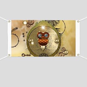Steampunk, cute owl Banner