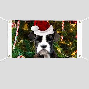 Christmas Boxer Dog Banner