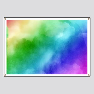 Rainbow Watercolors Banner