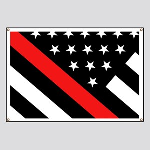 Firefighter Flag: Thin Red Line Banner
