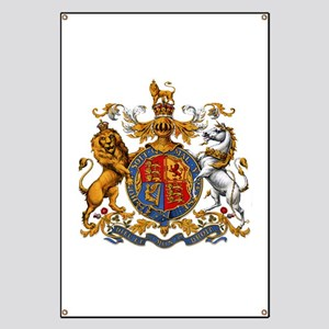 British Royal Coat of Arms Banner