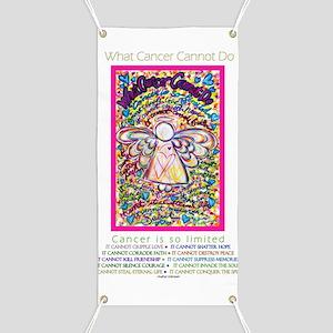 Spring Heart Cancer Angel Banner