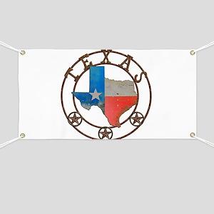 Texas Wrought Iron Barn Art Banner
