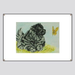 Chow Chow Dog with Butterfly Banner