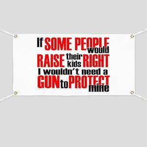 Gun Protect Children Banner