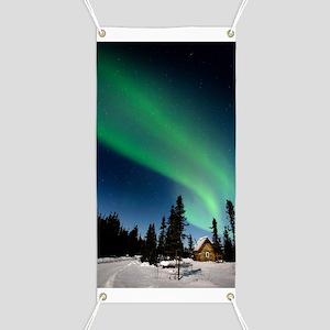 Aurora borealis in Alaska Banner