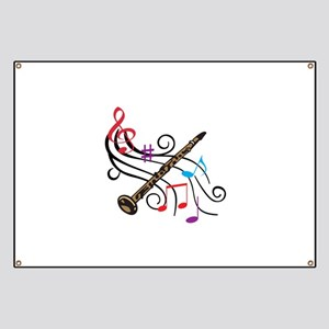 CLARINET WITH MUSIC Banner