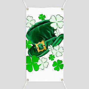 Irish Hat and ShamrocksTrans Banner