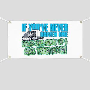 Trucker Back Off Banner
