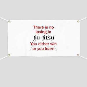 No Losing In Jiu Jitsu Banner