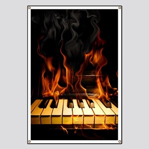 Burning Piano Banner