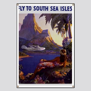 Vintage South Sea Isles Travel Banner