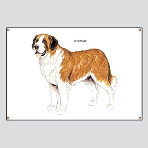 St. Bernard Dog Banner